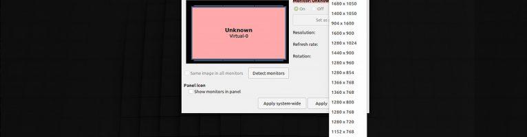 Linux虛擬機增加不同解析度選擇